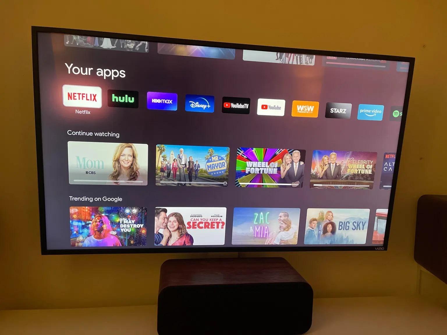 Le icone delle app di Google TV sembrerebbero essere tornate alle loro normali dimensioni