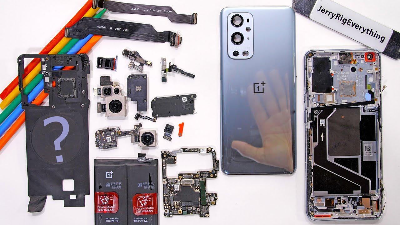 Acquistereste mai un OnePlus 9 Pro da assemblare pezzo per pezzo? JerryRigEverything probabilmente sì (video)
