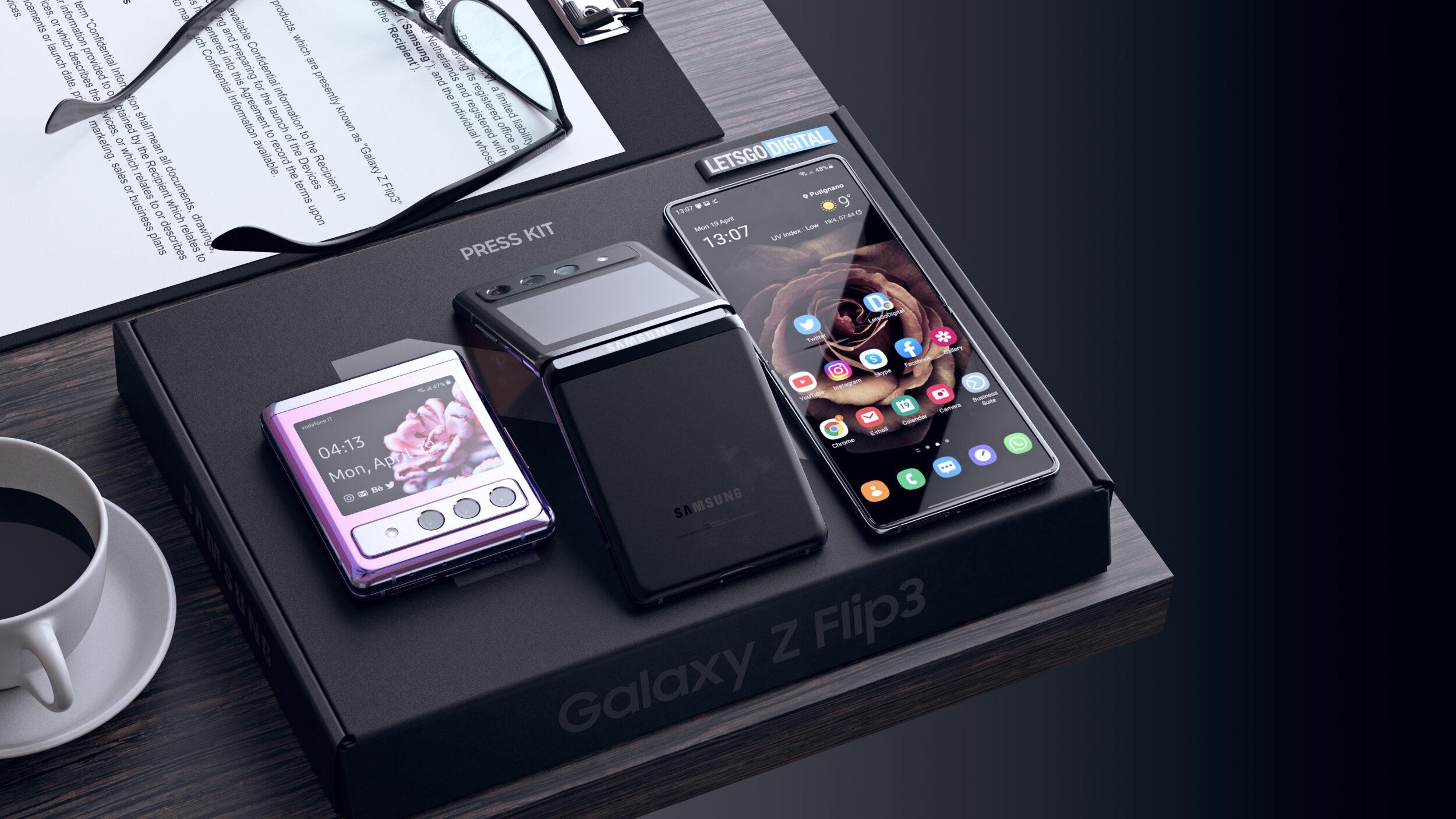 Se Galaxy Z Flip 3 fosse davvero così, sarà difficile resistergli (foto)