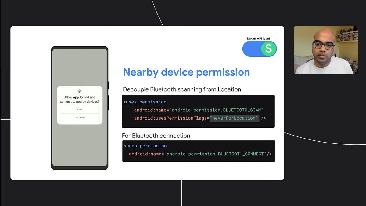 Con Android 12 le app non dovranno avere i permessi di localizzazione per trovare dispositivi Bluetooth nelle vicinanze