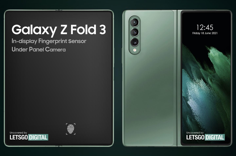 Samsung Galaxy Z Fold 3 avrà sotto il display una fotocamera e altri tipi di sensori?