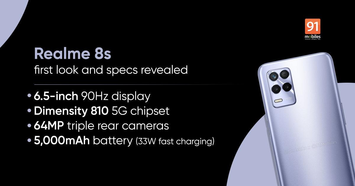 Realme ci prende gusto e amplia la serie Realme 8: ecco come sarà il modello 8s (foto)
