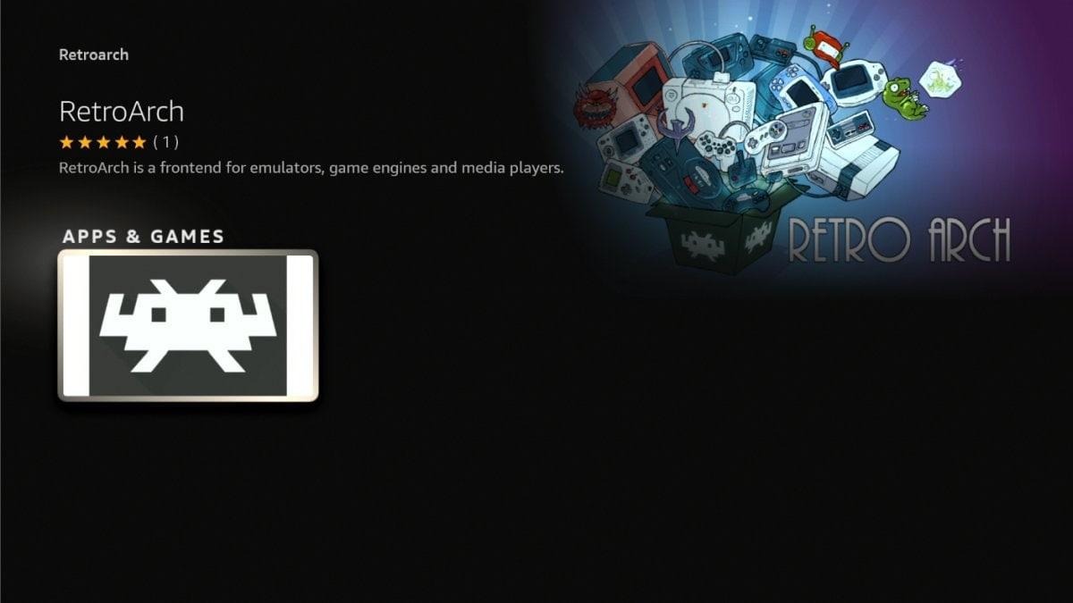 Il retrogaming su Fire TV come non l'avete mai visto: RetroArch sbarca sull'Amazon Appstore