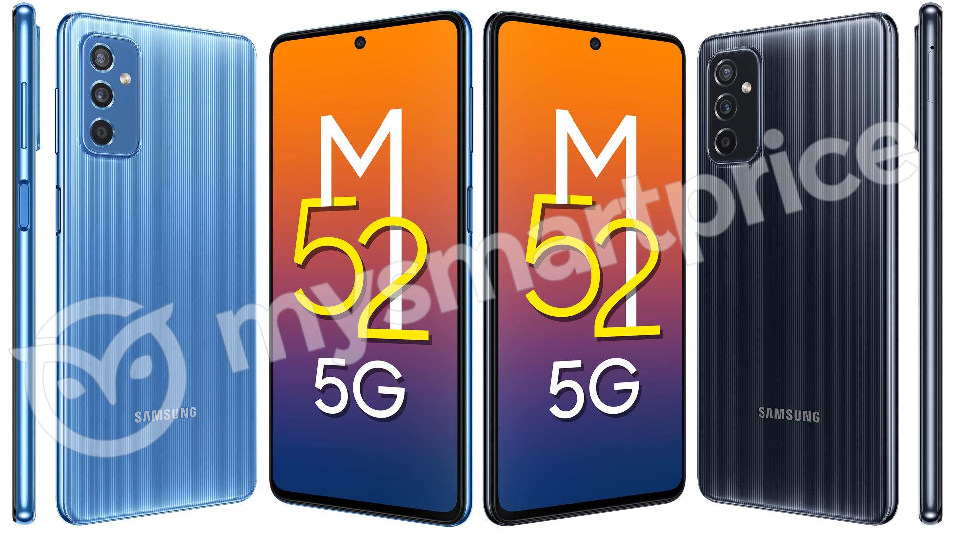 Samsung prepara Galaxy M52 5G: display a 120 Hz e design da cerimonia (aggiornato)